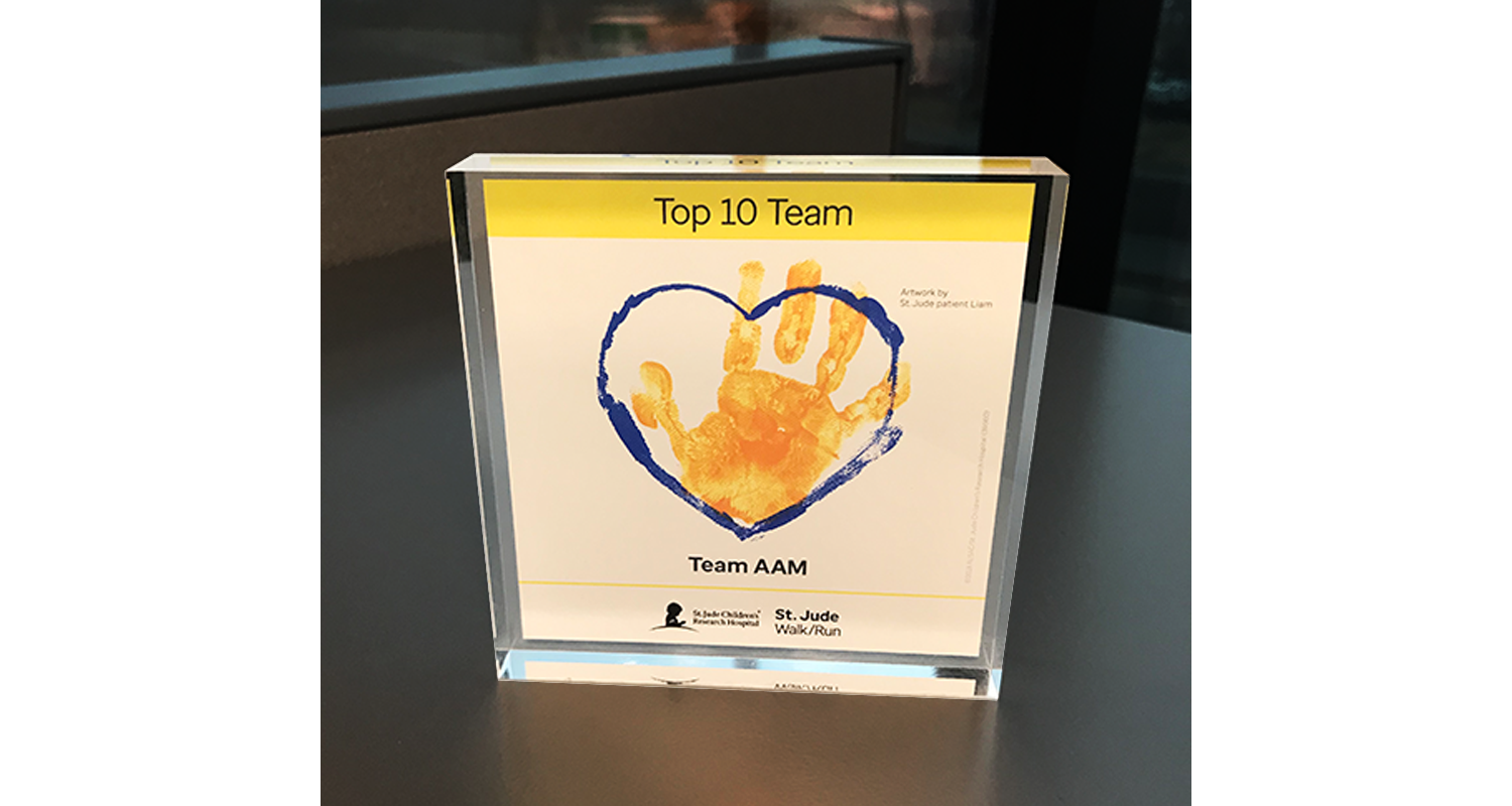 AAM Named a Top Fundraising Team for St. Jude